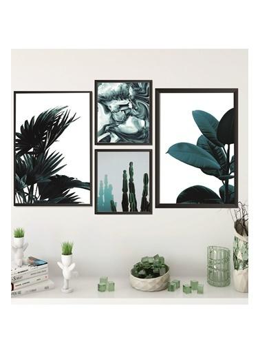 Lyn Home & Decor Mega Dörtlü Çerçeveli Poster 4 Lü Tablo 2 Adet 23,5X33,5 2 Adet 17,5X23,5 Siyah